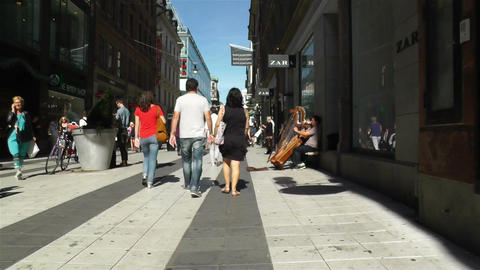 Stockholm Drottniggatan 18 pov native slowmotion Stock Video Footage