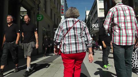 Stockholm Drottniggatan 20 pov native slowmotion Stock Video Footage