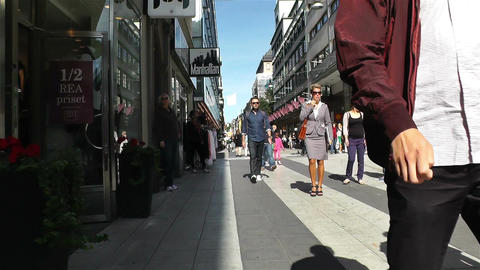 Stockholm Drottniggatan 20 pov native slowmotion Stock Video Footage