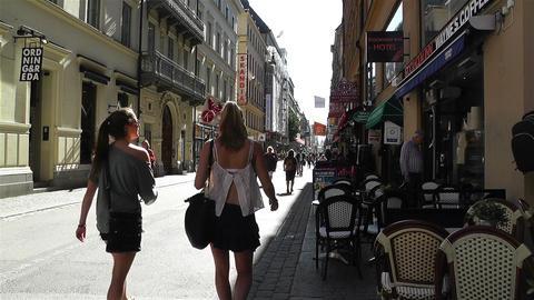 Stockholm Drottniggatan 23 Stock Video Footage