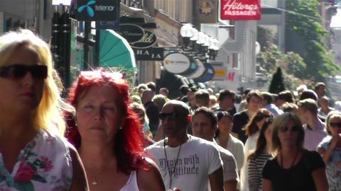 Stockholm Drottniggatan 25 Stock Video Footage