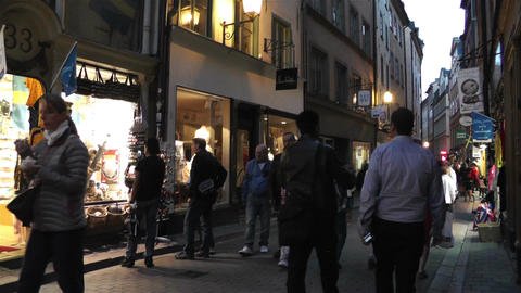 Stockholm Gamla Stan 22 evening Stock Video Footage