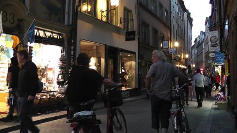 Stockholm Gamla Stan 22 evening Footage