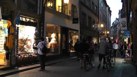 Stockholm Gamla Stan 22 evening Stock Video Footage