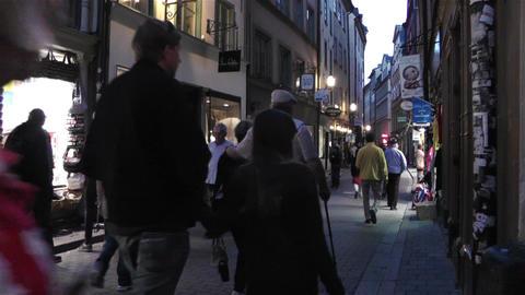 Stockholm Gamla Stan 24 evening Stock Video Footage
