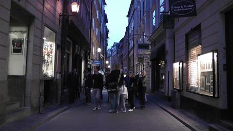 Stockholm Gamla Stan 26 evening Footage