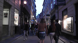 Stockholm Gamla Stan 26 evening Stock Video Footage