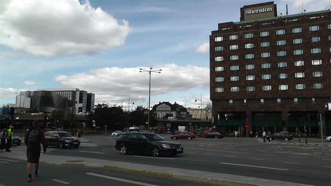 Stockholm Norrmalm 3 traffic Stock Video Footage