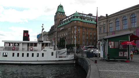 Stockholm Nybrokajen 1 Stock Video Footage