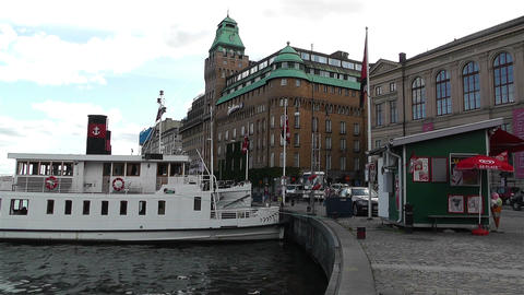 Stockholm Nybrokajen 1 Stock Video Footage