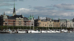 Stockholm Ostermalm 2 harbour Stock Video Footage