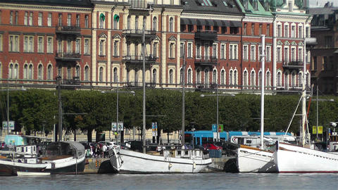 Stockholm Ostermalm 4 harbour Stock Video Footage