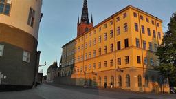 Stockholm Riddarholmen 10 sunset Stock Video Footage