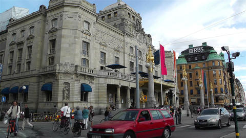 Stockholm Royal Dramatic Theatre 1 Stock Video Footage