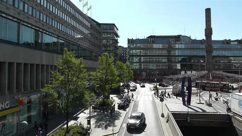 Stockholm Sergel Sqaure 1 Stock Video Footage