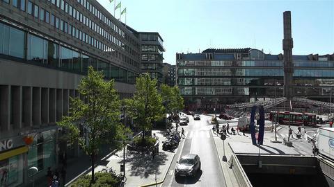 Stockholm Sergel Sqaure 1 Stock Video Footage
