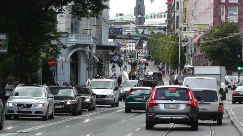 Stockholm Strandvagen 2 traffic Stock Video Footage