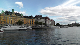 Stockholm Strandvagen 4 harbour Stock Video Footage