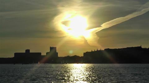 Stockholm Sunset 1 Stock Video Footage