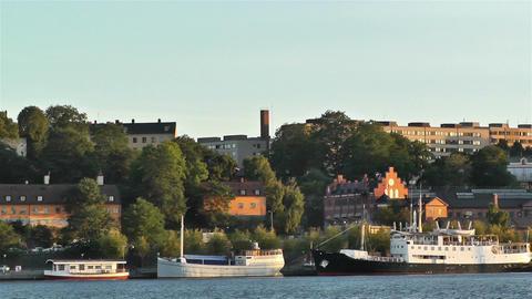 Stockholm Sunset 7 sunset Stock Video Footage