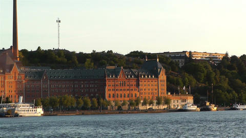 Stockholm Sunset 7 sunset Stock Video Footage
