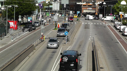 Stockholm Sveavagen 2 traffic Stock Video Footage
