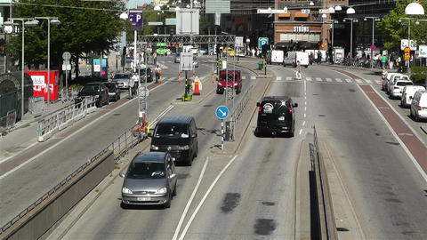 Stockholm Sveavagen 2 traffic Footage