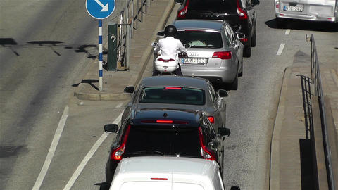 Stockholm Sveavagen 4 traffic Stock Video Footage