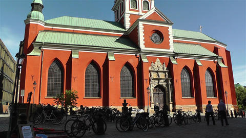 Stockholm Sweden Jacobs Church 1 Stock Video Footage