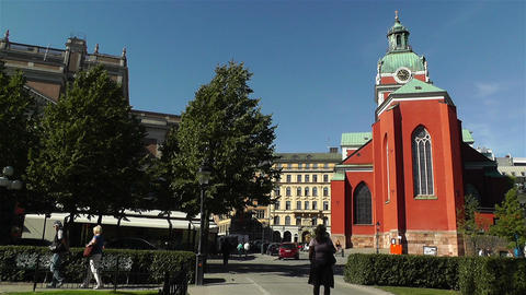 Stockholm Sweden Jacobs Church 3 Footage