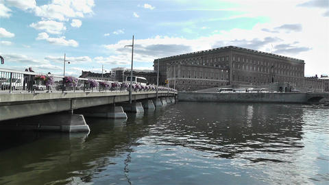 Stockholm Sweden Royal Palace 2 Stock Video Footage