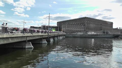 Stockholm Sweden Royal Palace 2 Stock Video Footage