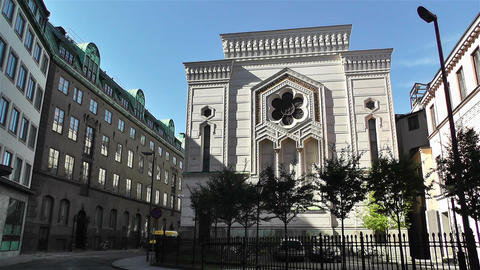 Stockholm Synagogue Sweden 1 Stock Video Footage