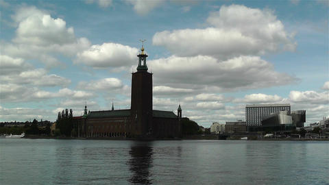 Stockholm Town Hall 1 Stock Video Footage