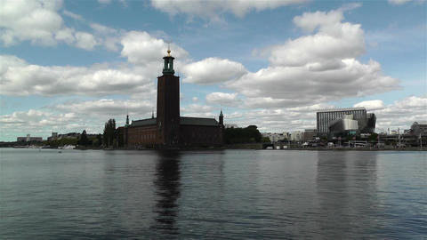Stockholm Town Hall 2 Stock Video Footage