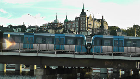 Stockholm Train 2 Stock Video Footage