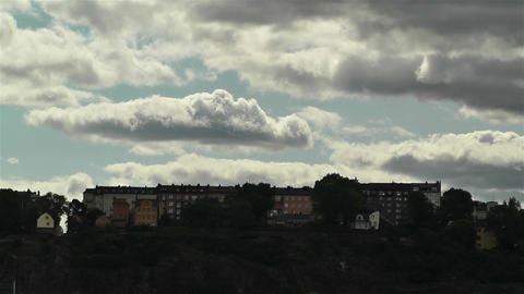 Stockholm view from Gamla Stan 2 Stock Video Footage