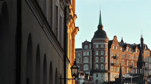 Stockholm view from Gamla Stan 11 Footage