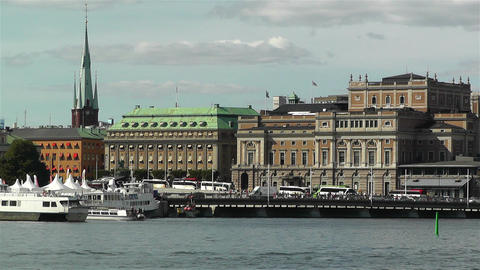 Stockholm view from Skeppsholmem 5 opera Footage