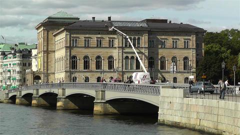 Stockholm view from Skeppsholmem 7 national museum Footage