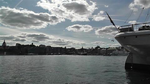 Stockholm view from Skeppsholmem 9 Stock Video Footage