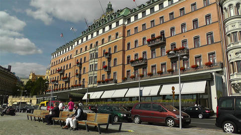 Stockhom Grand Hotel 2 Stock Video Footage