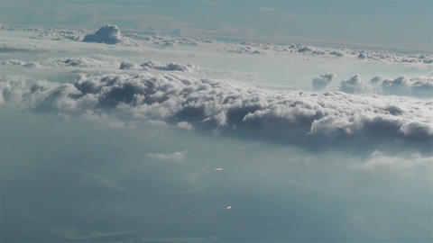 Stratocumulus from Above 2 Stock Video Footage