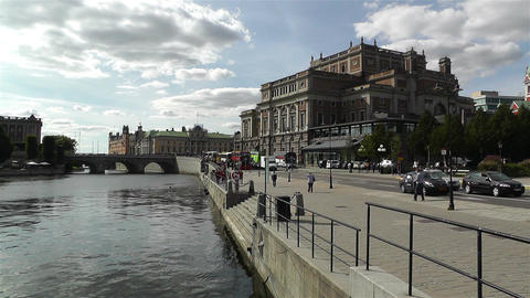 Swedish Opera Stockholm 1 Stock Video Footage