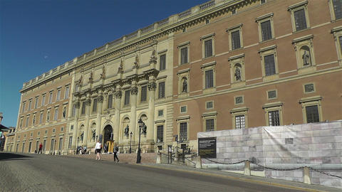 Swedish Royal Palace Stockholm 7 Footage