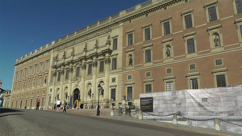 Swedish Royal Palace Stockholm 7 Stock Video Footage