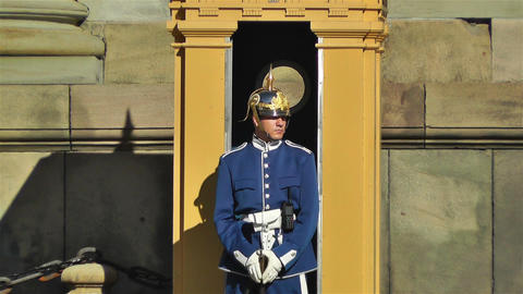 Swedish Royal Palace Stockholm 11 guard Stock Video Footage