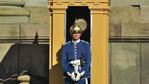 Swedish Royal Palace Stockholm 11 guard Stock Video Footage