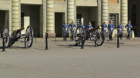 Swedish Royal Palace Stockholm 17 guard change Footage