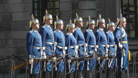 Swedish Royal Palace Stockholm 19 guard change Footage